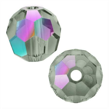 Swarovski Crystal, #5000 Round Beads 6mm, 10 Pieces, Black Diamond Shimmer