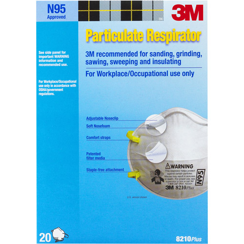 3M 8210PB1-A 20-Count N95 Particulate Respirator by 3M
