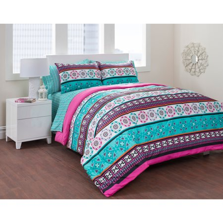 Formula Mosaic Tile Bed In A Bag Bedding Set Walmart Com