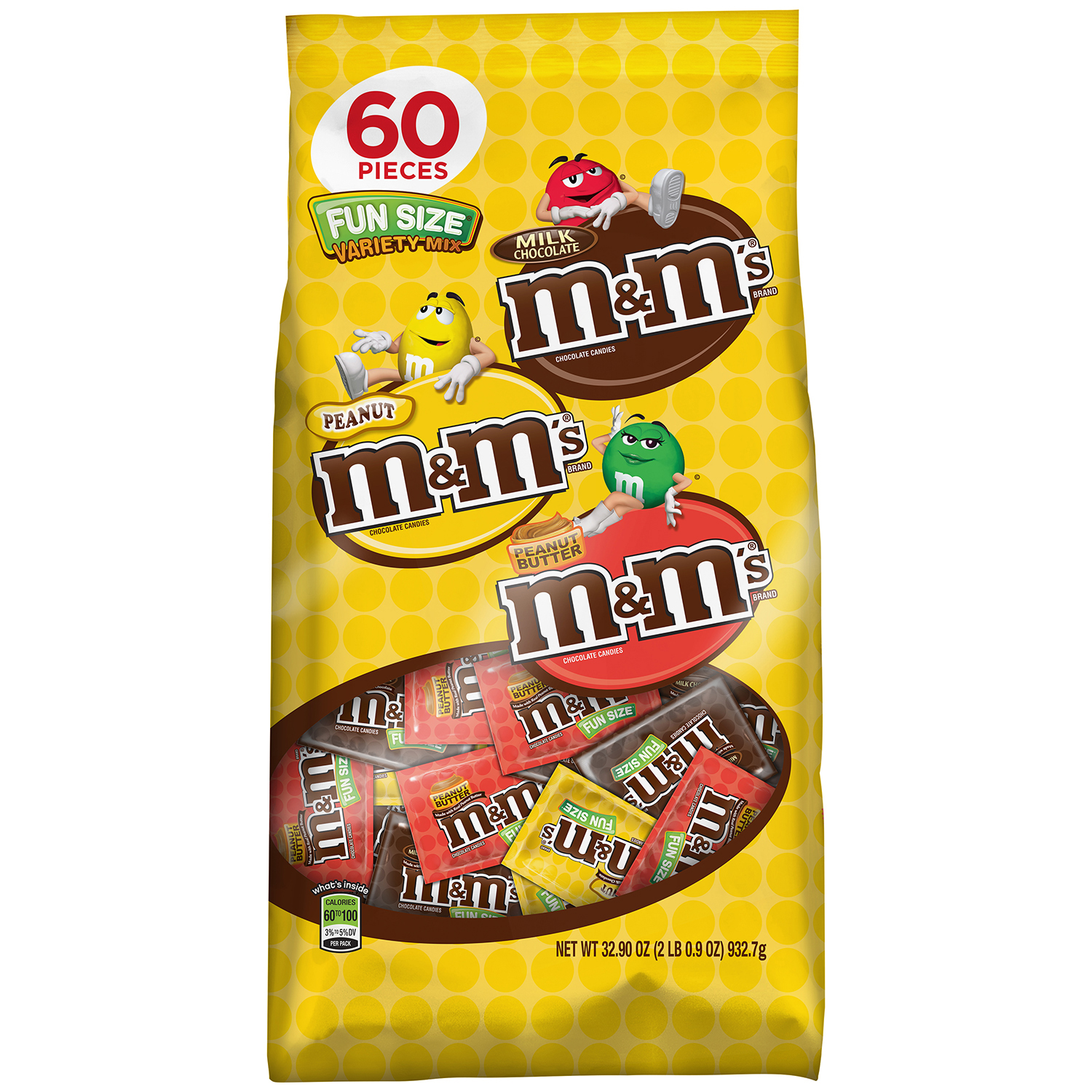 M&M'S Chocolate Candy Fun Size Variety Assorted Mix Bag, 32.9 oz 60 Pieces
