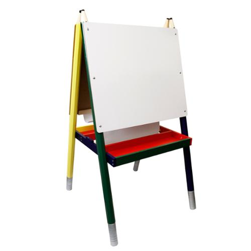 ZUMA Children's Paint & Drawing Artist Easel with Chalkboard & Dry Erase Board by US Art Supply