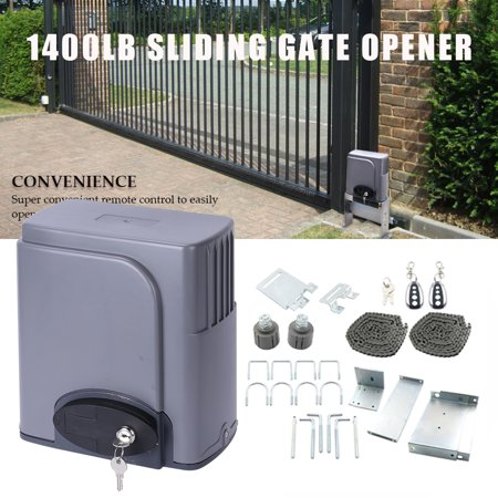 - Automatic Sliding Gate Opener Hardware with 2 Remotes