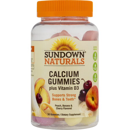 Sundown Naturals Calcium Gummies plus Vitamin D3 - 50 (1.53 Ct Natural)