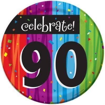 Milestone Celebration 90th Birthday 7-inch Plates , 4PK