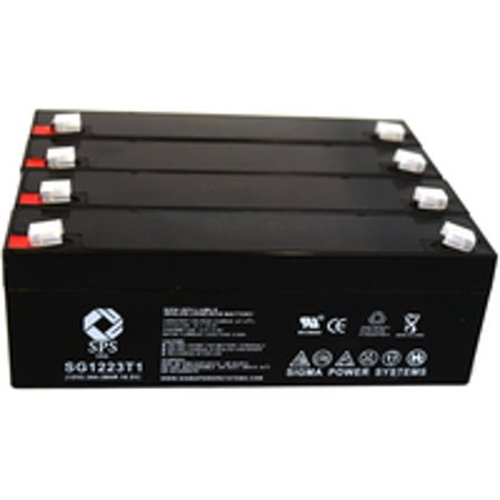 Sps Brand 12V 2 3 Ah Replacement Battery  For Micro Medical Ltd Transpacer  4 Pack