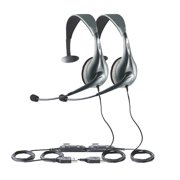 Jabra UC Voice 150 Mono Corded Headset w/ USB Connection & Noise-Canceling Microphone- 2 Pack