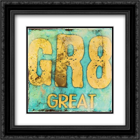 GR8 2x Matted 20x20 Black Ornate Framed Art Print by Rodriquez Jr, Enrique (Gr8 Art)