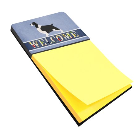 English Springer Spaniel Welcome Sticky Note Holder (English Springer Spaniel Sticker)