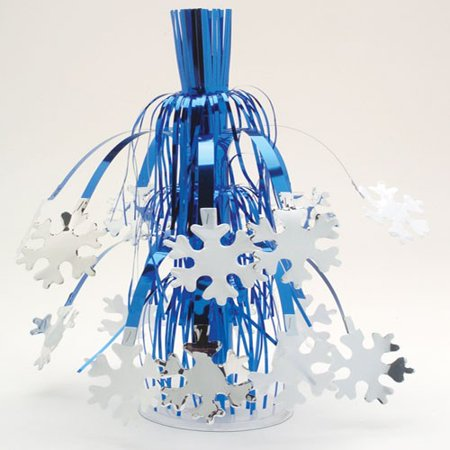 Snowflake Centerpiece And Dangler 2-N-1 Combination Frozen Party Decoration - Frozen Center Pieces