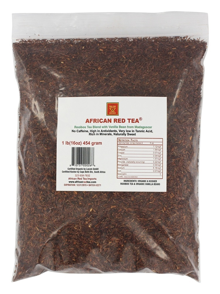 African Red Tea Imports Rooibos Loose Tea Blend with Madagascar Vanilla Bean 1 lb. by African Red Tea