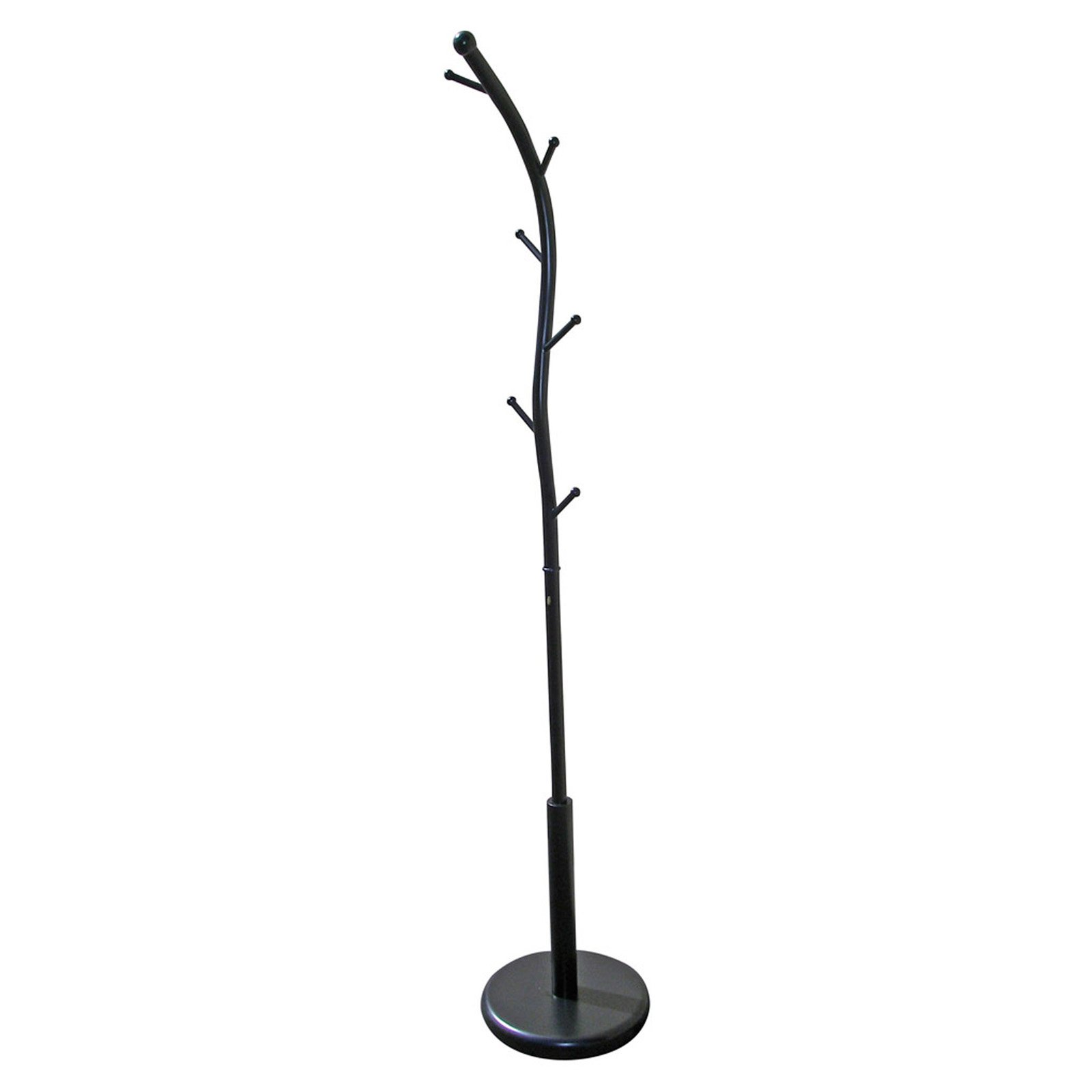 "ORE International 71"" Metal Coat Rack, Black"