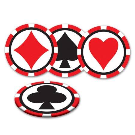 Club Pack of 96 Red, White and Black Casino Night