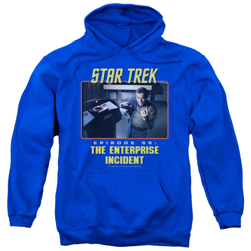 ST ORIGINAL/THE ENTERPRISE INCIDENT-ADULT PULL-OVER HOODIE-ROYAL BLUE-LG