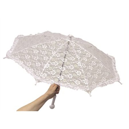 White Lace Children's Halloween Parasol - Children's Halloween Movies 2017