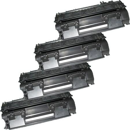 4 Inkfirst Compatible Toner Cartridges Replacement for HP CE505A CF280A 05A 80A Laserjet P2055dn P2055x M425dn M401dw M401dn M401n P2035 P2035n - image 1 de 2