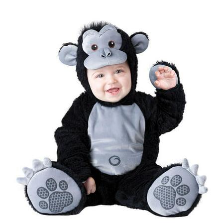 Boo Infant Boys & Girls Plush Black Goofy Gorilla Costume Monkey Outfit