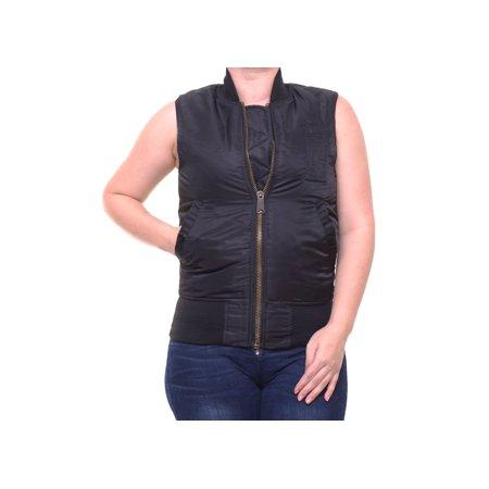 RACHEL Rachel Roy Women's Sleeveless Black Reversible Vest Size (Reversible Sleeveless Vest)