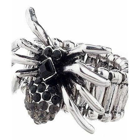 Elastic Rhinestone Spider Ring - By Ganz
