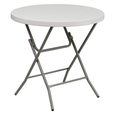 flash furniture 32 39 39 round granite white plastic folding table. Black Bedroom Furniture Sets. Home Design Ideas