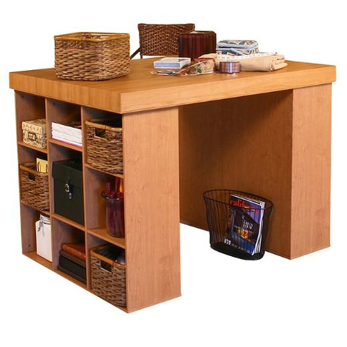 Venture Horizon Project Center 38.5'' H x 55'' W Desk with 2 Bookcases