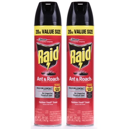 - Raid Ant & Roach Killer 26, Outdoor Fresh Scent, 20 Ounces, 2 pack