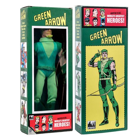 Action Figure Green Box (dc comics mego style boxed 8 inch action figures: green arrow)