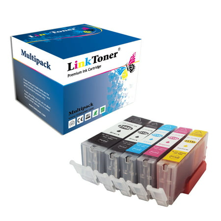 LinkToner Compatible Canon Printer Ink Cartridge for Canon PGI-250XL PGI 250 XL CLI-251XL CLI 251 XL (Black x2 Cyan Magenta Yellow) for Printer Canon Pixma MX922 MG5520 MG7520