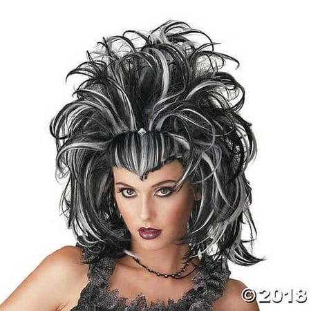 Black & White Evil Sorceress Wig - Evil Sorceress