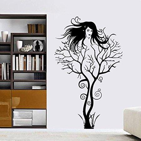 Decal ~ Sexy Girl Tree ~ WALL DECAL, HOME DECOR 22