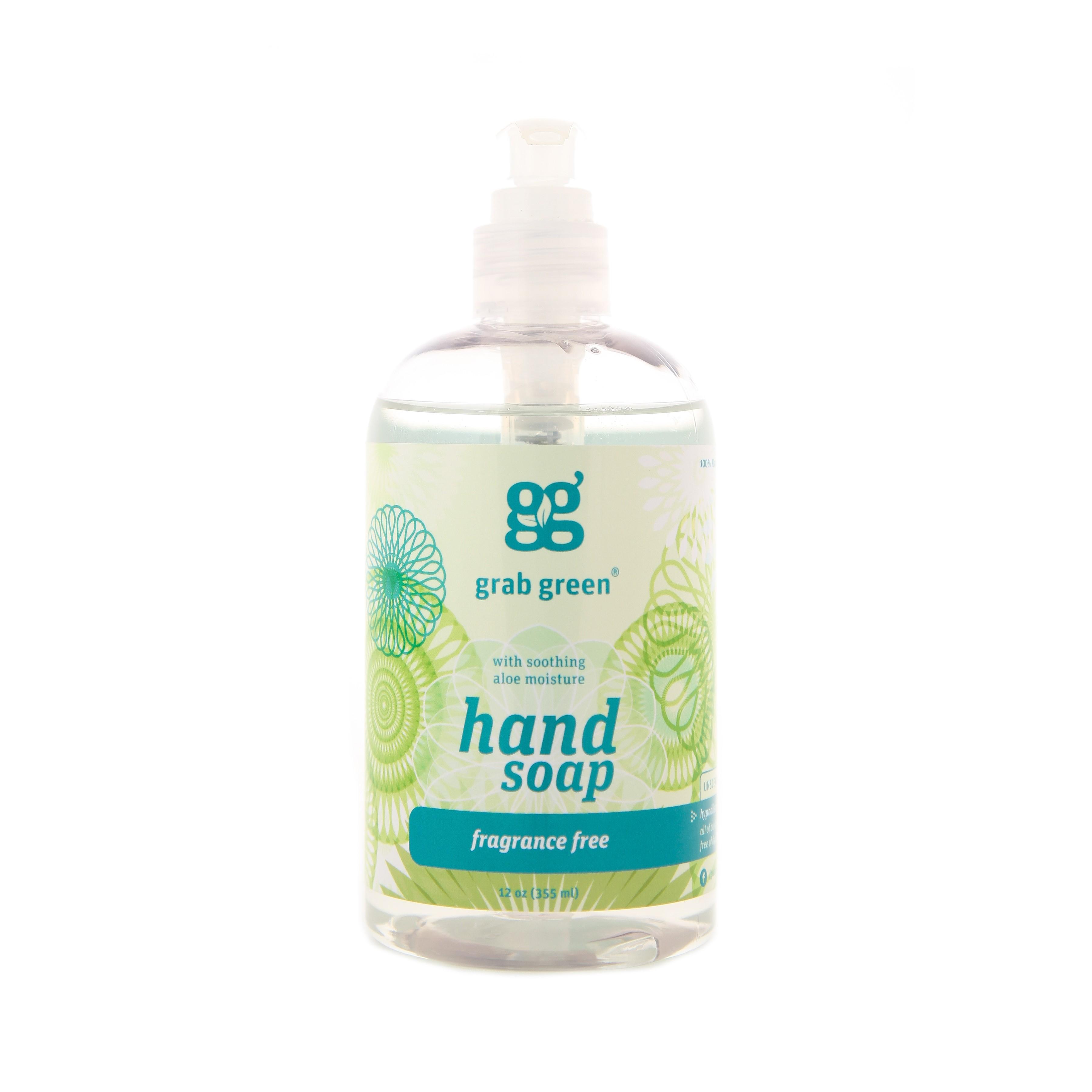 Grab Green Hand Soap , Fragrance Free, 12 Fl Oz