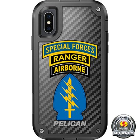 LIMITED EDITION Pelican Shield Kevlar Case for iPhone X Designs by Ego Tactical with up to 24-foot drop protection: Triple Canopy- Special Forces, Ranger, Airborne](Oath Keeper)