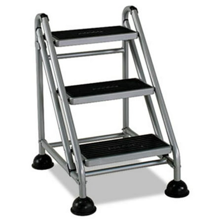 Bridgeport 11834GGB1 Rolling Commercial Step Stool, 3-Step, 26 3/5 Spread, (Bridgeport Oregon)