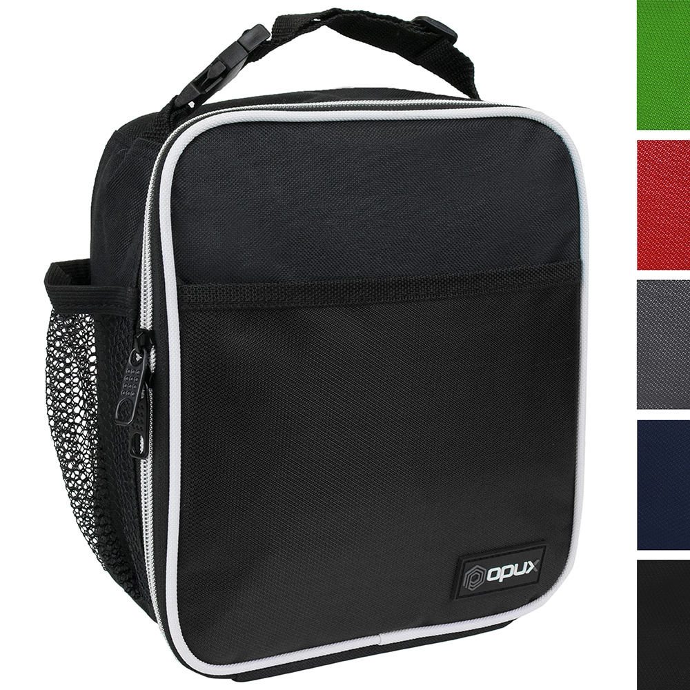 OPUX Premium Thermal Insulated Mini Lunch Bag   School Lunch Box For Teens, Adults   Soft Leakproof Liner   Compact Lunch Pail for Office Work