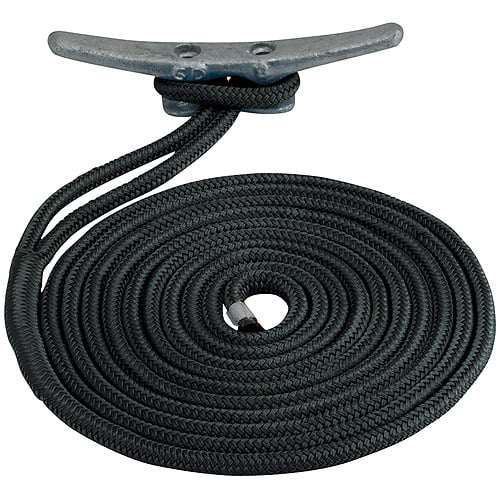 "Click here to buy Sea Dog Dock Line, Double Braided Nylon, 1 2"" x 15', Black by Sea Dog."