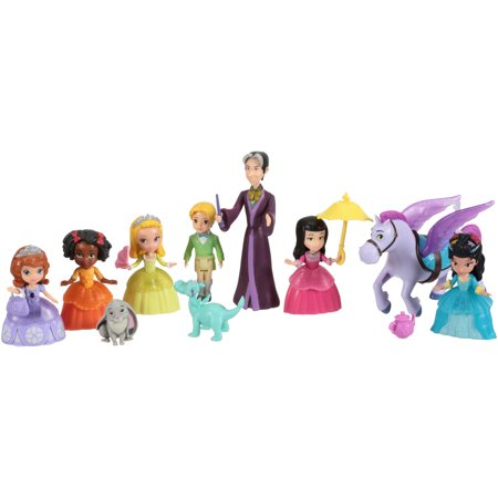 Sofia the First Disney Junior Deluxe Friends Collection Action Figures 14 pc Box - Sofia The First Jasmine