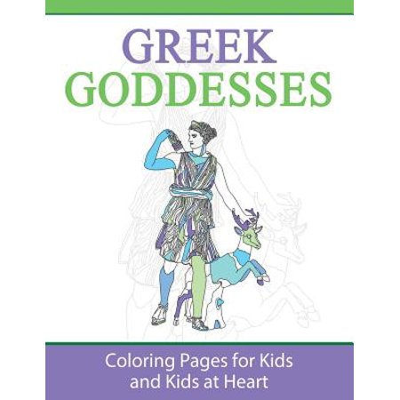 Greek Goddesses : Coloring Pages for Kids and Kids at Heart