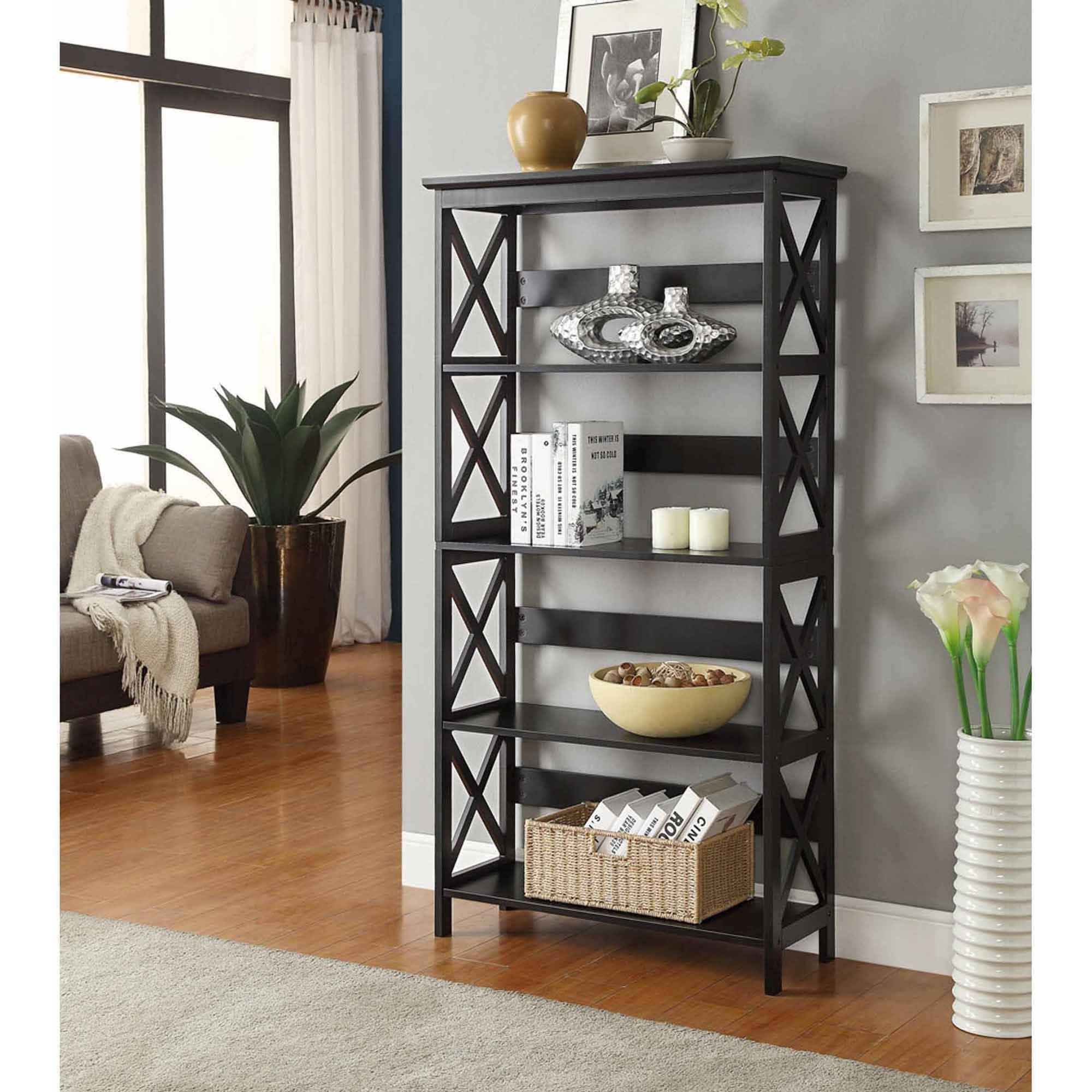 Convenience Concepts Oxford 5-Tier Bookcase, Multiple Colors