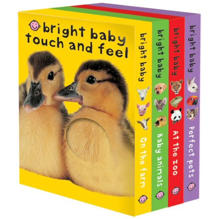 Bright Baby Touch   Feel Boxed Set  On The Farm  Baby Animals  At The Zoo And Perfect Pets