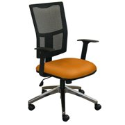 Task Mesh Chair with Orange Fabric and Aluminum Base MVLWMCTKFAF6551