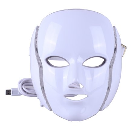 LED Light Therapy Mask-with Clinically Proven Blue & Red Light Treatment Acne Photon Mask,Led Face Mask for Anti-aging, Brightening, Improve Wrinkles,Tightening and Smoother Skin