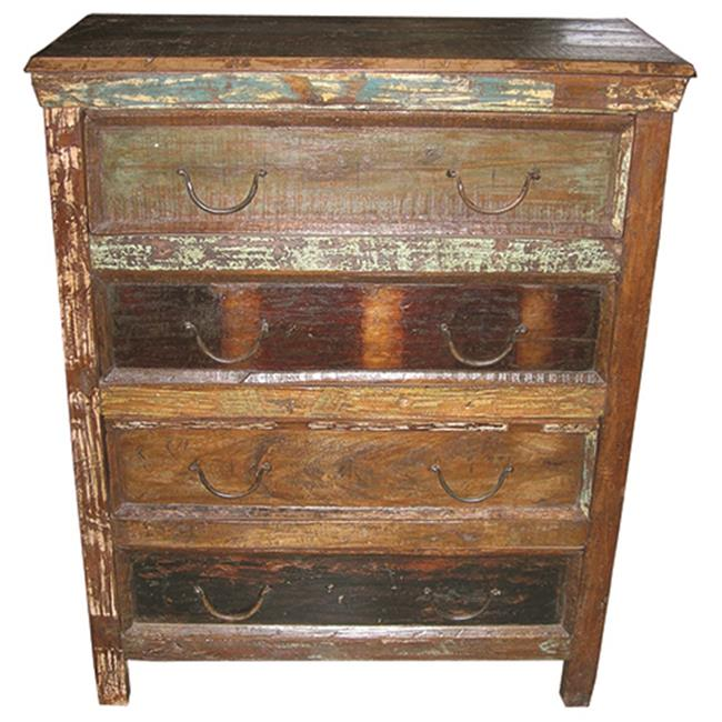Moti Beach 4 Drawer Chest - 42 x 16 x 36 in.