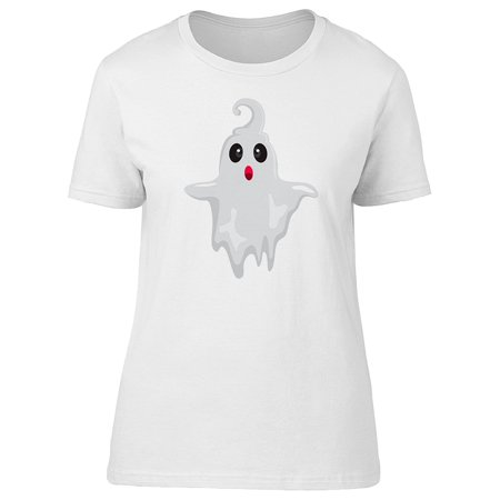 Cute Ghost With Hair Tee Women's -Image by Shutterstock