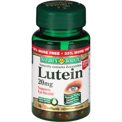 Nature's Bounty Lutein Softgels, 20mg, 40 count