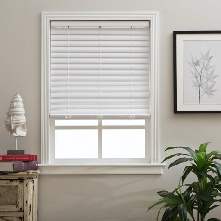 2 Inch Blinds Walmart.Arlo Blinds White Faux Wood 2 Inch Cordless Blinds