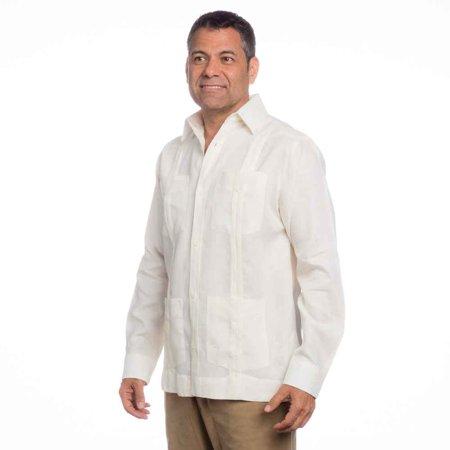 fad04a65c1479 Men's mexican wedding shirt, linen guayabera shirt SIZE:2X COLOR:IV