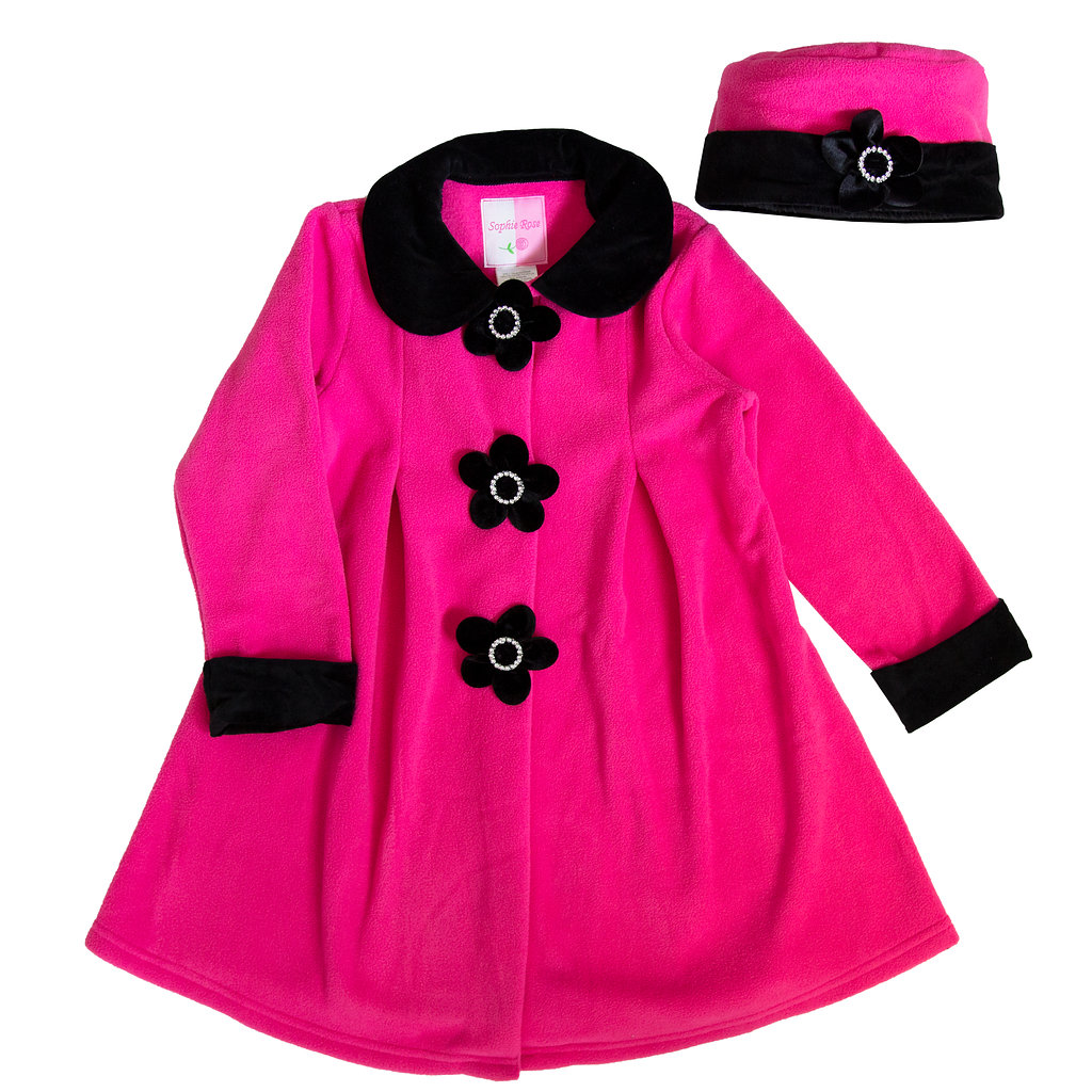 Good Lad Infant Girl Burgundy Hooded Fleece Coat with Toggles