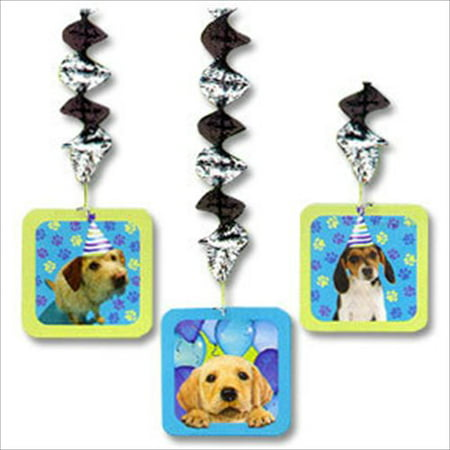 Puppy Party Dangling Decorations (3ct) - Puppy Birthday Decorations