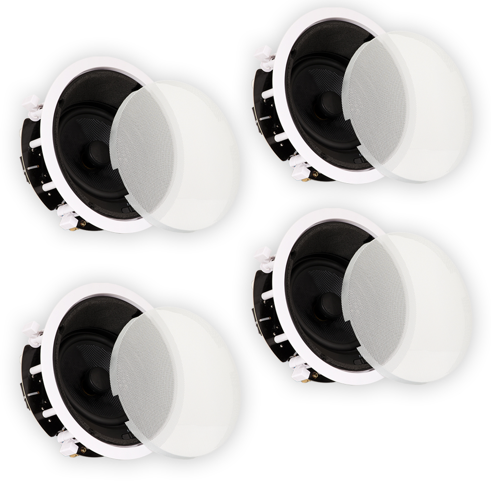 """Theater Solutions TSS6A Home Theater Deluxe In Ceiling 6.5"""" Angled 4 Speaker Set by Theater Solutions by Goldwood"""