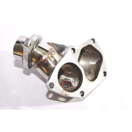 SS Turbo Exhaust Mannifold Elbow For 03-06 TD05/T517T/T518Z EVO 8 9 4G63T