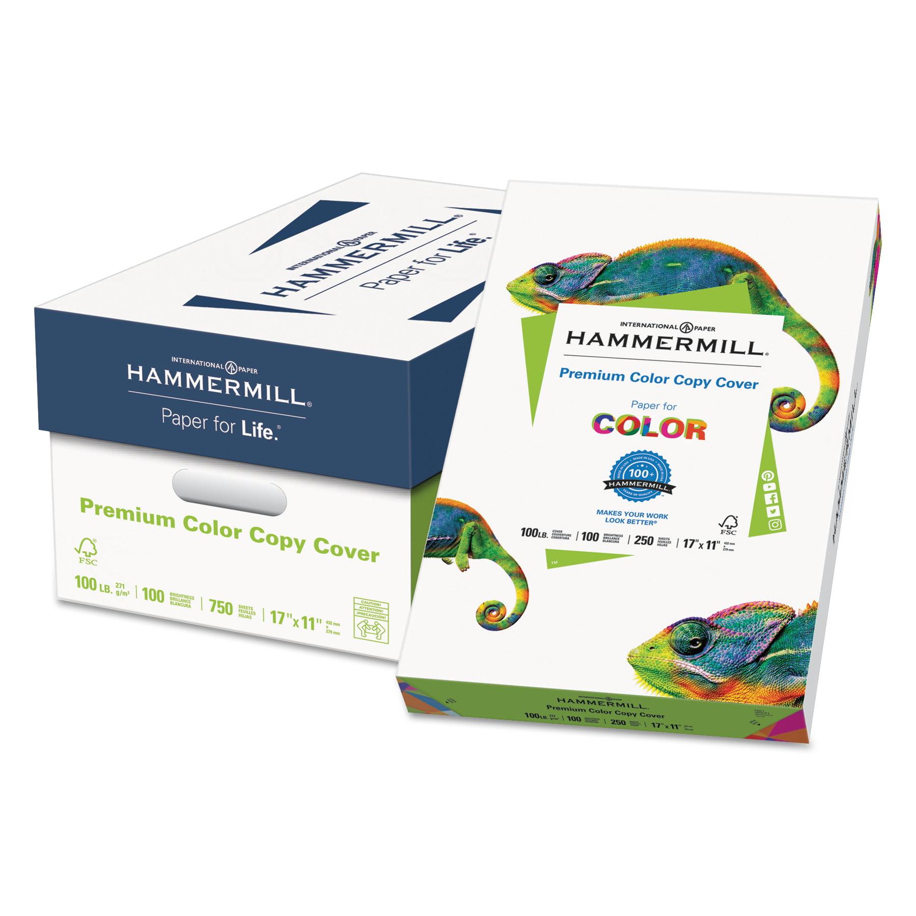 Hammermill Premium Color Copy Cover, 100 Bright, 60lb, 17 x 11, Photo White, 250 Sheets/PK -HAM122556